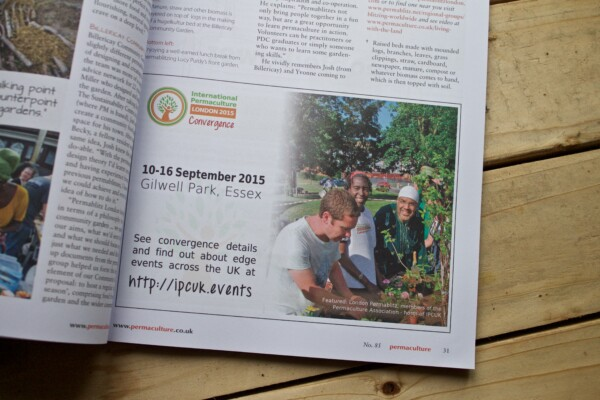 International Permaculture Conference & Convergence 2015 Print Advertisement