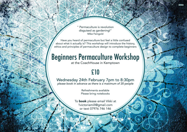 Beginners Permaculture Workshop Leaflet